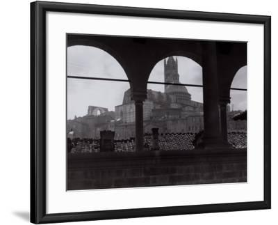 View of the Cathedral and the Bell Tower from an Open Gallery, Siena-Vincenzo Balocchi-Framed Photographic Print