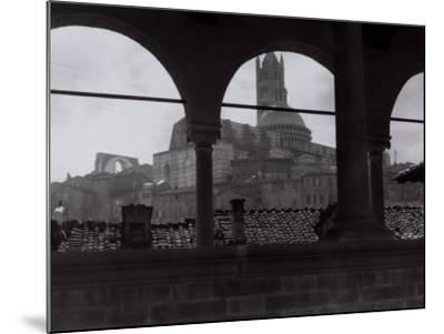 View of the Cathedral and the Bell Tower from an Open Gallery, Siena-Vincenzo Balocchi-Mounted Photographic Print