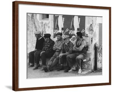 Men on a Bench in Saint Tropez-Vincenzo Balocchi-Framed Photographic Print