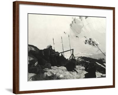 Signaling Section on Adamello During World War I--Framed Photographic Print