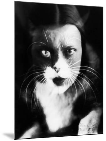 Me and Cat', Two Superimposed Photos of Wanda Wulz and of Her Cat-Wanda Wulz-Mounted Photographic Print