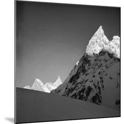 Mitria Peak (6100 Meters), Area Surrounding the Circo Concordia, Karakorum--Mounted Photographic Print