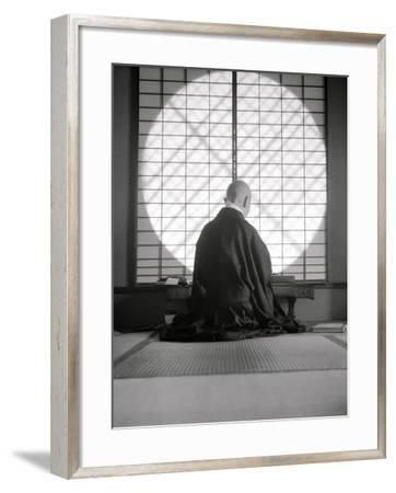 Kyoto: Temple of Gyoji, the Abbess Writes--Framed Photographic Print