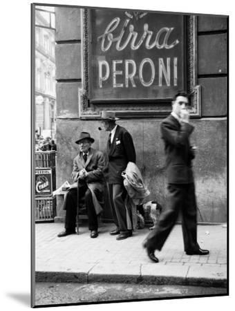 Men in a Street of Napoli--Mounted Photographic Print
