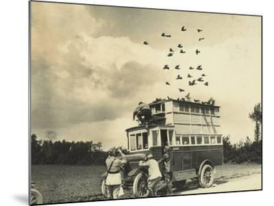 WWI: Soldiers Setting Free Some Carrier Pigeons, Northern France--Mounted Photographic Print