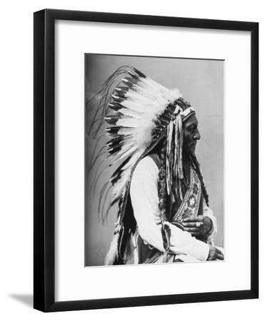 Portrait of an American Indian Chief--Framed Photographic Print