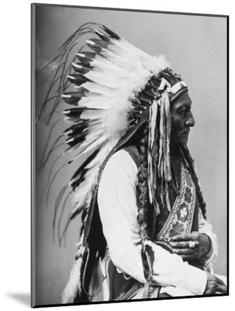 Portrait of an American Indian Chief--Mounted Photographic Print