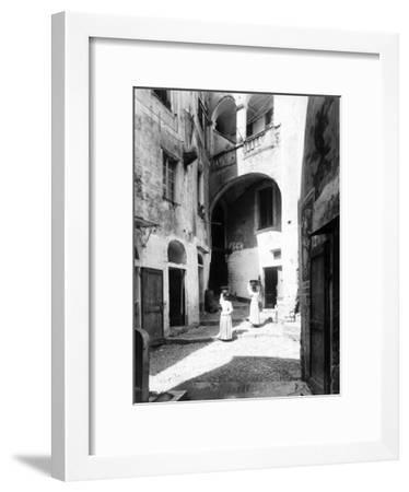 View of Piazza Capitolo in San Remo--Framed Photographic Print