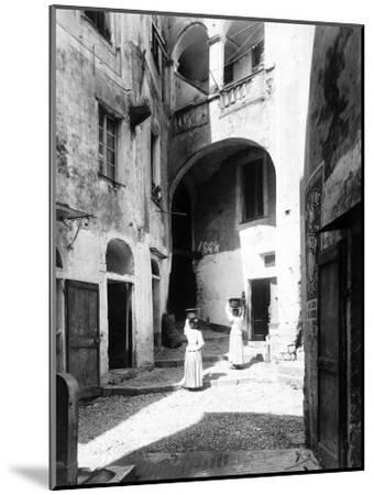 View of Piazza Capitolo in San Remo--Mounted Photographic Print