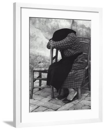 Old Woman Sleeping-Vincenzo Balocchi-Framed Photographic Print