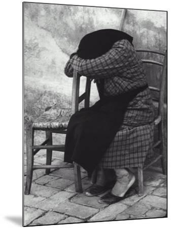 Old Woman Sleeping-Vincenzo Balocchi-Mounted Photographic Print