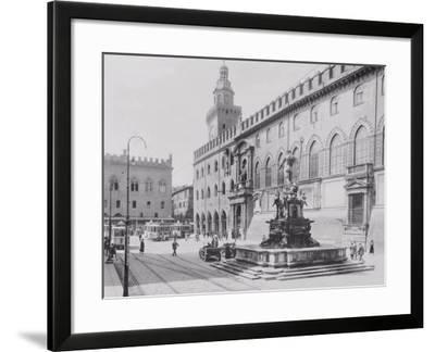 Fountain of Neptune or the Giant in Piazza Del Nettuno in Bologna-A^ Villani-Framed Photographic Print