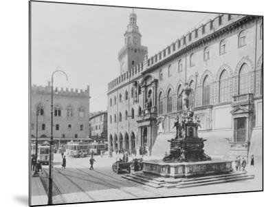 Fountain of Neptune or the Giant in Piazza Del Nettuno in Bologna-A^ Villani-Mounted Photographic Print
