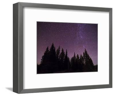 Night Sky over Bighorn Mountains-Mike Cavaroc-Framed Photographic Print