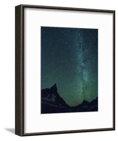 Milky Way over Glacier National Park, Montana.-Steven Gnam-Framed Photographic Print