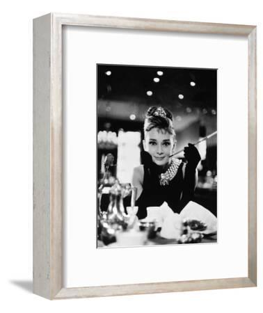 "Audrey Hepburn. ""Breakfast At Tiffany's"" 1961, Directed by Blake Edwards--Framed Photographic Print"