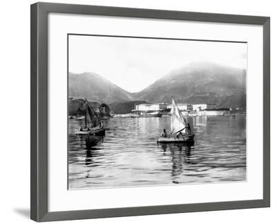View of the Gulf of La Spezia--Framed Photographic Print