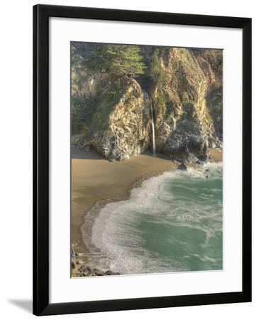 Mcway Falls at Julia Pfeiffer Burns State Park on the Big Sur Coast of California-Kyle Hammons-Framed Photographic Print
