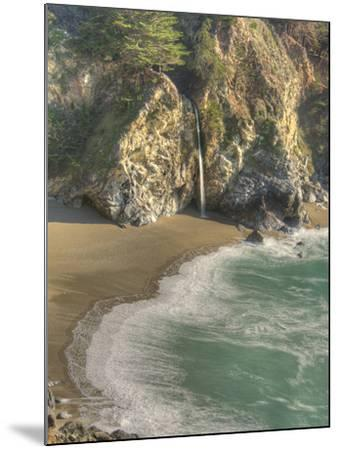 Mcway Falls at Julia Pfeiffer Burns State Park on the Big Sur Coast of California-Kyle Hammons-Mounted Photographic Print