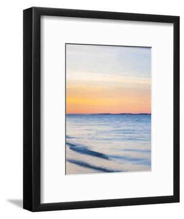Sunset at Beach with Waves-James Shive-Framed Photographic Print