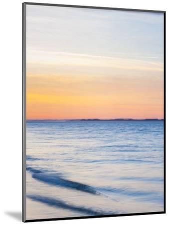 Sunset at Beach with Waves-James Shive-Mounted Photographic Print
