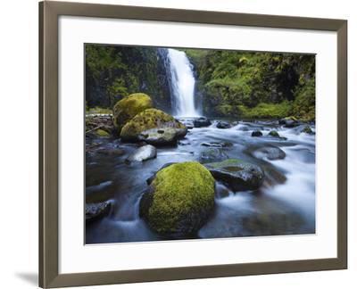 Seven Mile Falls, Eagle Creek, Oregon-Ethan Welty-Framed Photographic Print