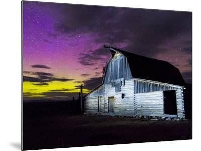 Northern Lights Above Moulton Barn-Mike Cavaroc-Mounted Photographic Print