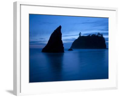 Olympic National Park, Wa: Sea Stacks Get Wrapped by the Incoming Tide-Brad Beck-Framed Photographic Print
