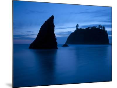 Olympic National Park, Wa: Sea Stacks Get Wrapped by the Incoming Tide-Brad Beck-Mounted Photographic Print