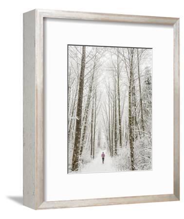 Winter Trail Running-Steven Gnam-Framed Photographic Print