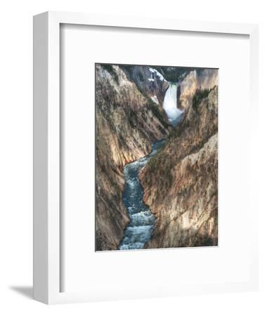 Lower Yellowstone Falls Is the Largest Falls in What Is Considered the Grand Canyon of Yellowstone.-Brad Beck-Framed Photographic Print