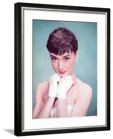 Audrey Hepburn, 1954--Framed Photographic Print