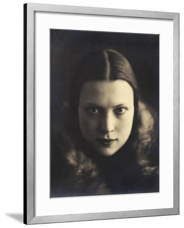 Self-Portrait of Wanda Wulz, Photograph Used in the Superimposed Photo Me and Cat-Wanda Wulz-Framed Photographic Print