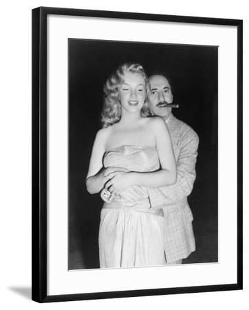 Marilyn Monroe, Groucho Marx, Love Happy, 1949--Framed Photographic Print