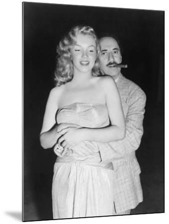 Marilyn Monroe, Groucho Marx, Love Happy, 1949--Mounted Photographic Print
