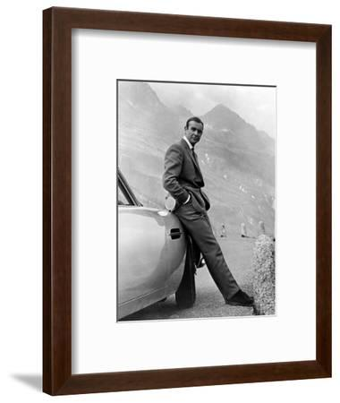 """Sean Connery. """"007, James Bond: Goldfinger"""" 1964, """"Goldfinger"""" Directed by Guy Hamilton--Framed Photographic Print"""