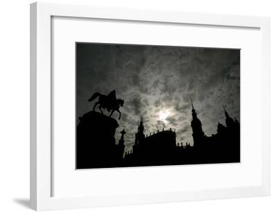 Silhouette of Historic Dresden-Ralf Hirschberger-Framed Photographic Print