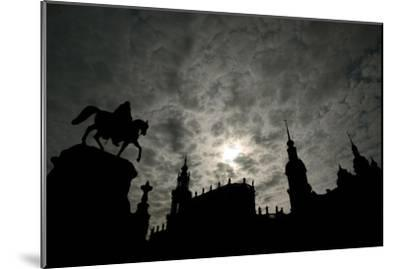 Silhouette of Historic Dresden-Ralf Hirschberger-Mounted Photographic Print