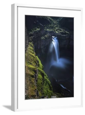 Moonlight Illuminates the Cliffs of Palouse Falls on a Clear Spring Night in Eastern Washington-Ben Herndon-Framed Photographic Print