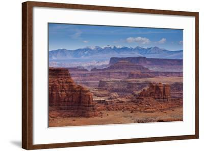 The Rugged Canyons of Canyonlands National Park Seen from the White Rim Trail Near Moab, Utah-Sergio Ballivian-Framed Photographic Print