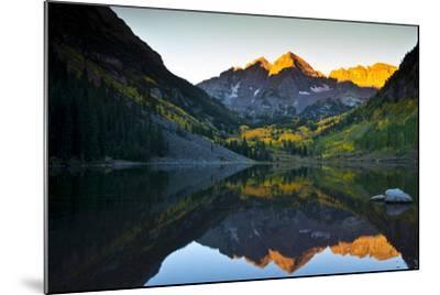 Gorgeous Fall Sunrise at Maroon Bells, Aspen, Colorado-Brad Beck-Mounted Photographic Print