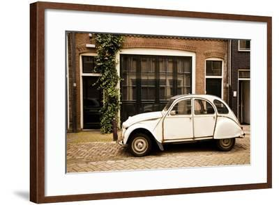 Vintage Citroen on a Street in Amsterdam, Netherlands-Carlo Acenas-Framed Photographic Print