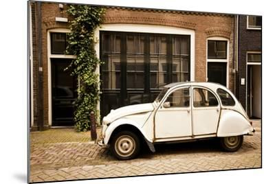 Vintage Citroen on a Street in Amsterdam, Netherlands-Carlo Acenas-Mounted Photographic Print