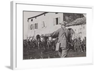 Campagna Di Guerra 1915-1916-1917-1918: Soldiers During the Battle of the Piave Fagaré--Framed Photographic Print