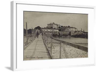 View of Gradisca on the River Isonzo--Framed Photographic Print