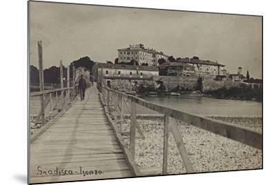 View of Gradisca on the River Isonzo--Mounted Photographic Print