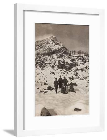 Free State of Verhovac-July 1916: Italian Soldiers in the War Zone During the Winter--Framed Photographic Print