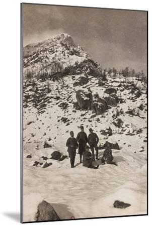 Free State of Verhovac-July 1916: Italian Soldiers in the War Zone During the Winter--Mounted Photographic Print