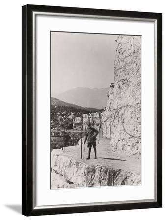 World War I: The Path Roccione of the Grenadiers, Monte Cengio--Framed Photographic Print
