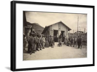 Latrine of the Third Sector with Deportees in the Fonte D'Amore Camp in Sulmona--Framed Photographic Print